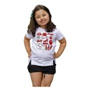 Camiseta Manga Curta Fenda Estampada Infantil Juvenil Mazal