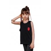 Camiseta Regata Infantil Juvenil Menina Básica Mazal