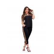 Conjunto Feminino Blusa E Calça Oncinha P Ao Gg Mazal