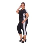 Conjunto Feminino Blusa E Calça Pantacourt P Ao Gg Mazal