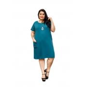 Vestido Feminino Com Tiras E Bolso Plus Size Mazal