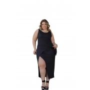 Vestido Feminino Regata Transpassado Com Amarração Plus Size