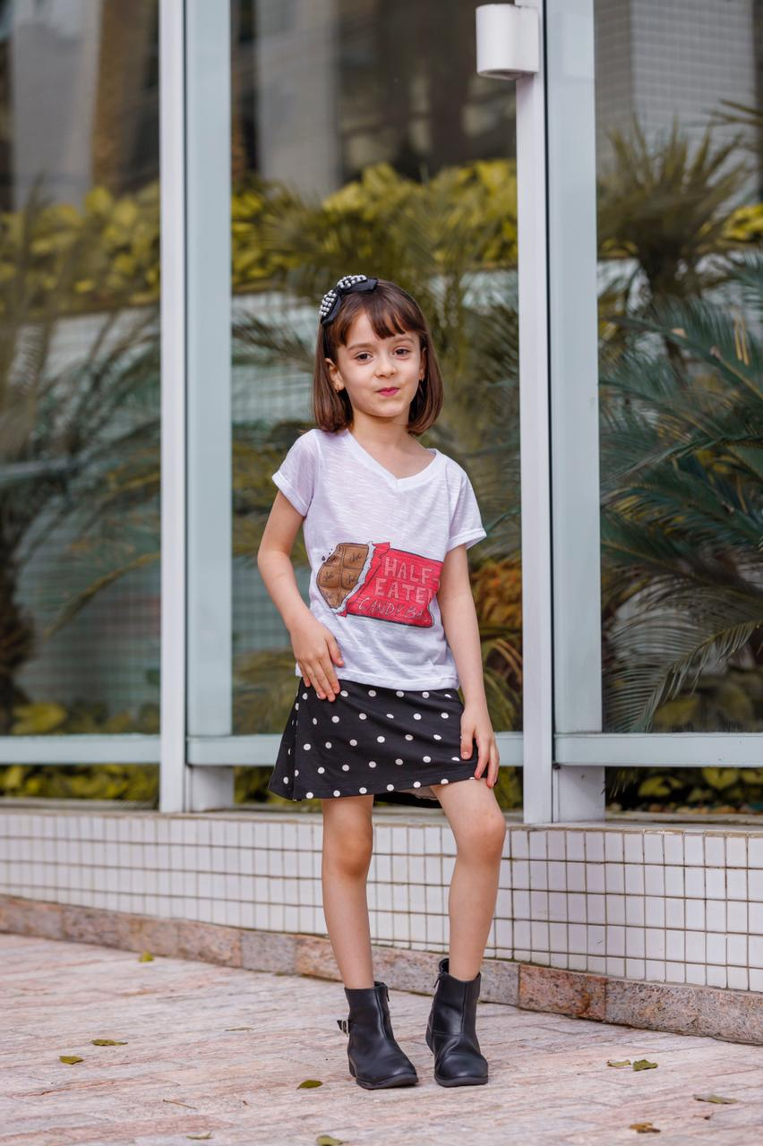 Camiseta Baby Look Gola V Infantil Juvenil Flame Mazal