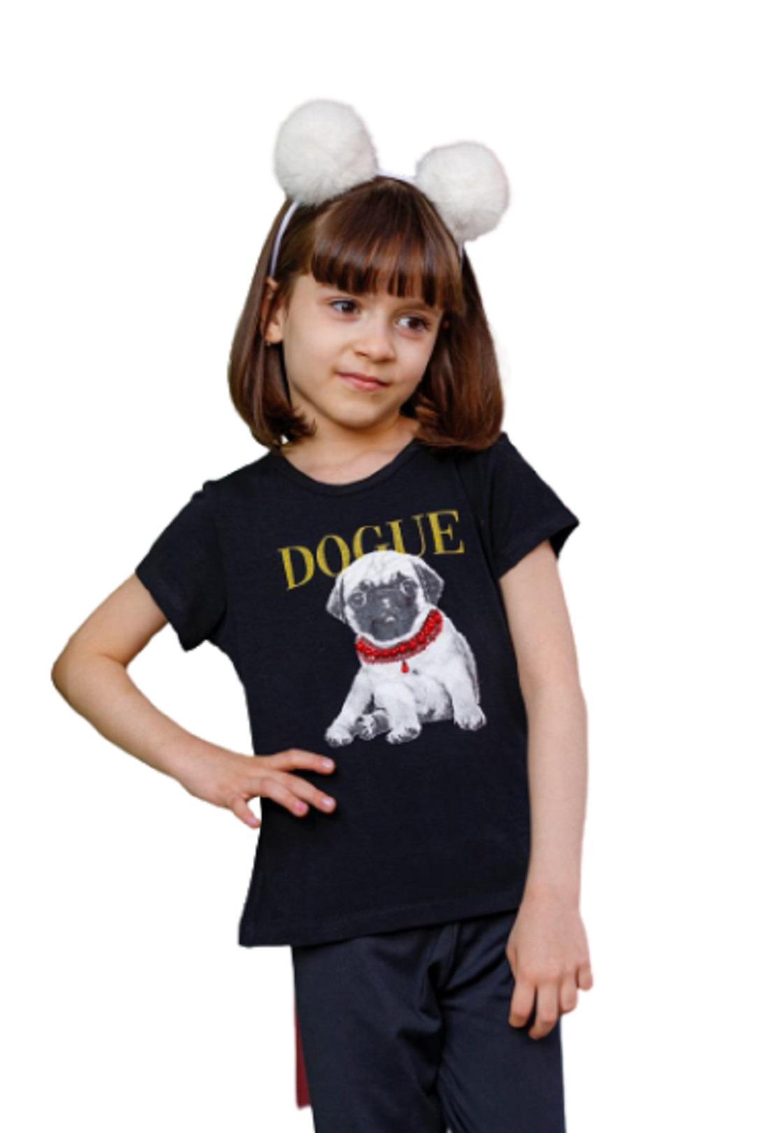 Camiseta Baby Look Infantil Juvenil Menina Dogue Mazal