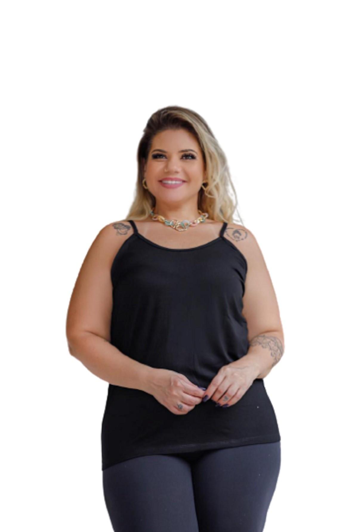 Blusa Feminina Regata Alcinha Plus Size Mazal