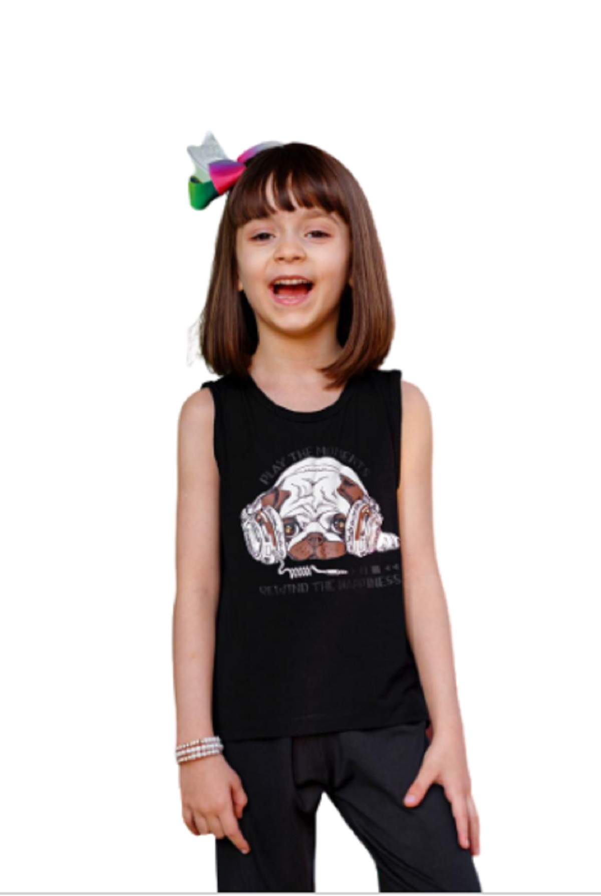 Camiseta Regata Infantil Juvenil Estampado Menina Mazal
