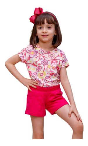Conjunto Infantil Short e Blusa Manga Curta Estampado Mazal
