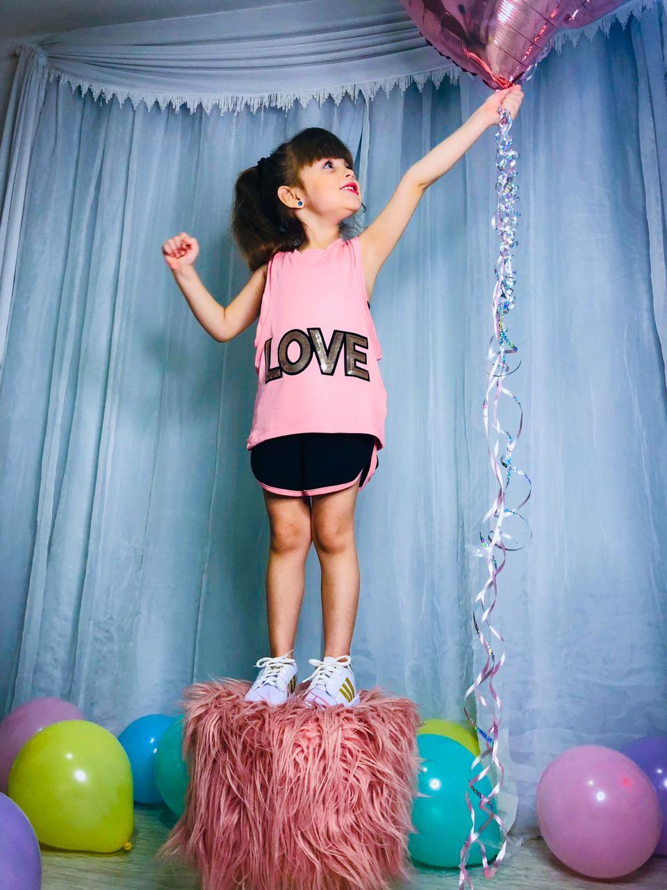 Conjunto Infantil Juvenil Regata Love Short E Top Mazal