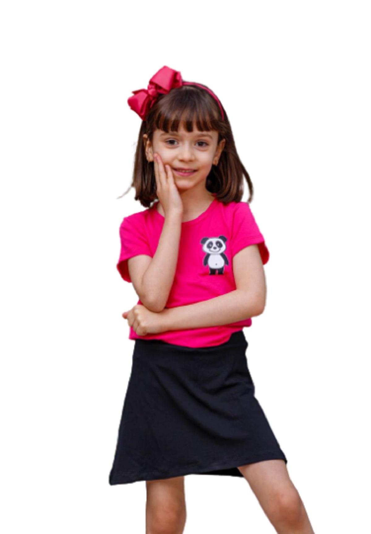 Saia Short Infantil Juvenil Tecido Viscolycra Menina Mazal