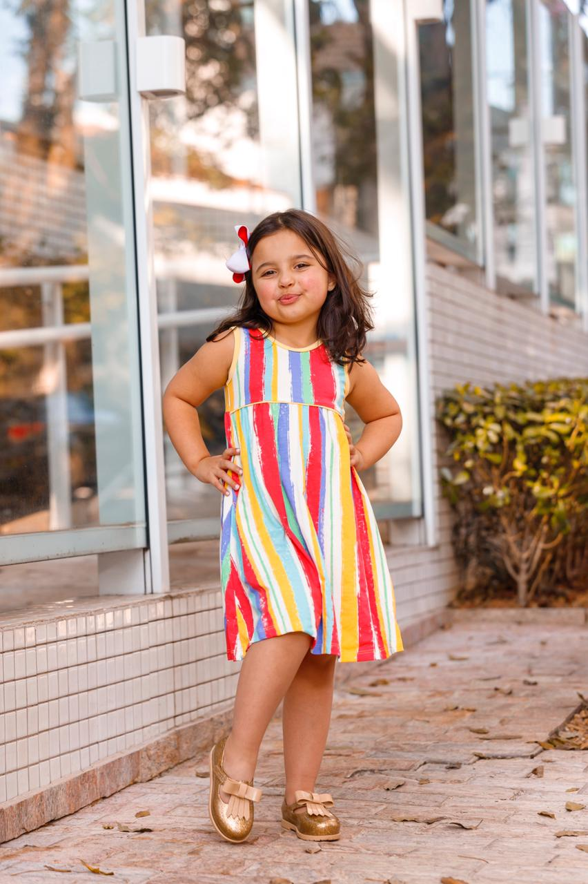 Vestido Regata Infantil Juvenil Estampado Menina Mazal