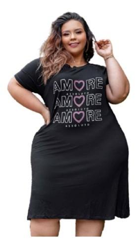Vestido Feminino Amore Tamanho Especial Plus Size Mazal
