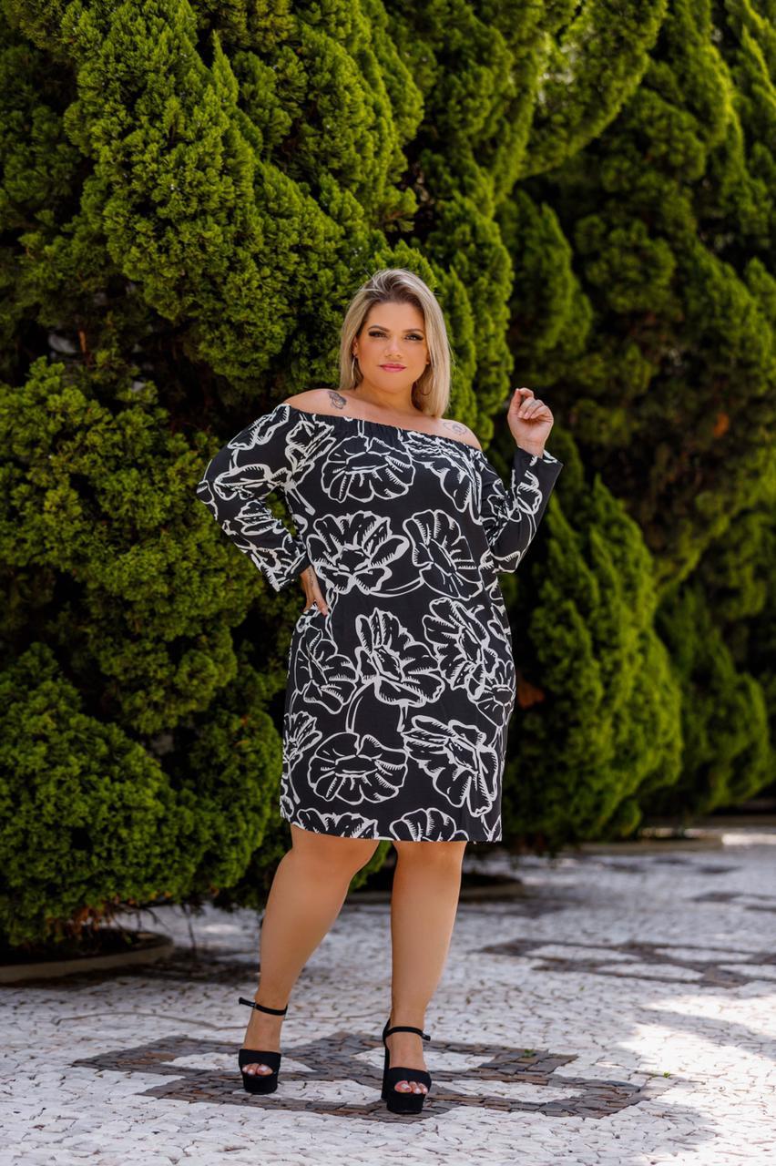Vestido Feminino Ciganinha Estampado Plus Size Mazal