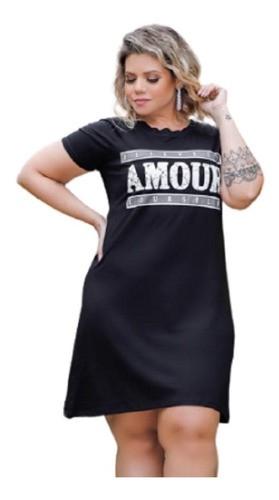 Vestido Feminino Manga Raglan Amour Plus Size Mazal