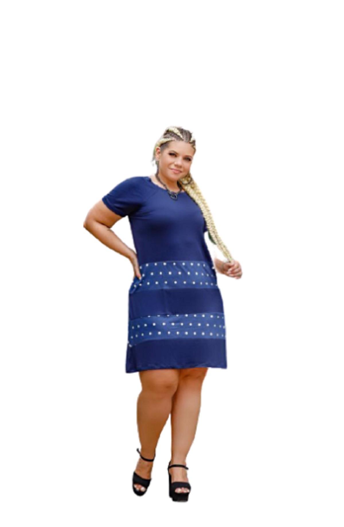 Vestido Feminino Recortes Estampado Plus Size Mazal