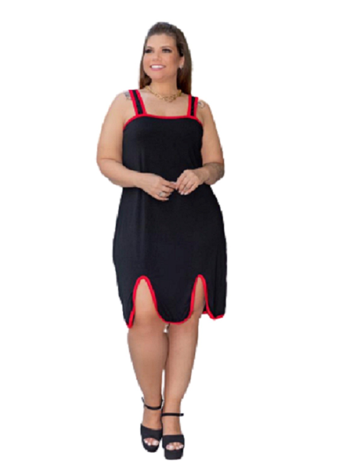 Vestido Feminino Salopete Alcinha Plus Size Mazal