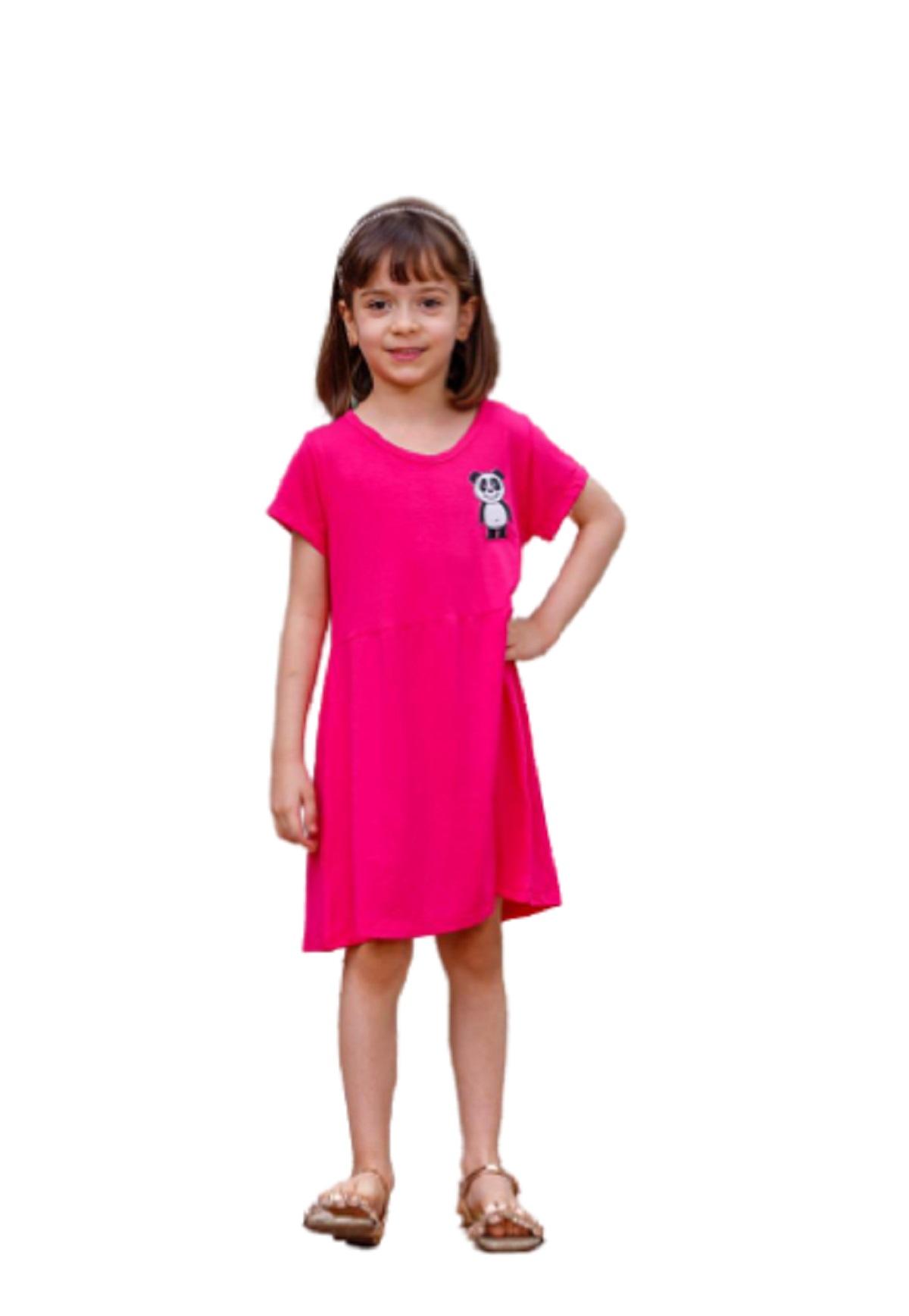 Vestido Infantil Juvenil De Manga Curta Menina Mazal