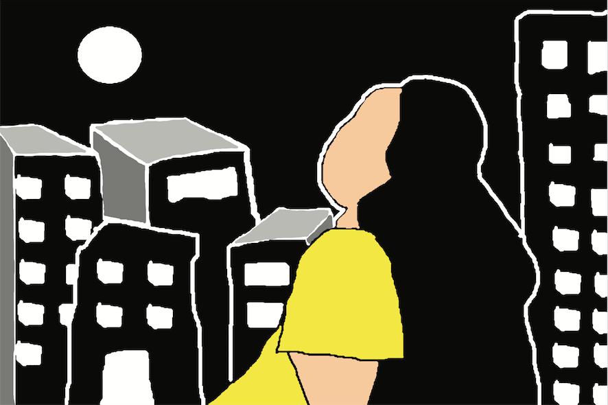 """IMPRESSÃO DIGITAL """"OLHAR PRO CÉU ANTES DE SER ENGOLIDA POR SÃO PAULO E/OU OLHAR PRO CÉU ANTES DE ENGOLIR SÃO PAULO"""""""