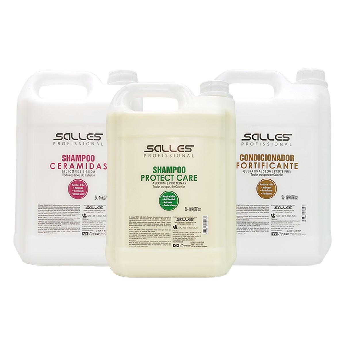 Shampoo Ceramidas - Salles Profissional