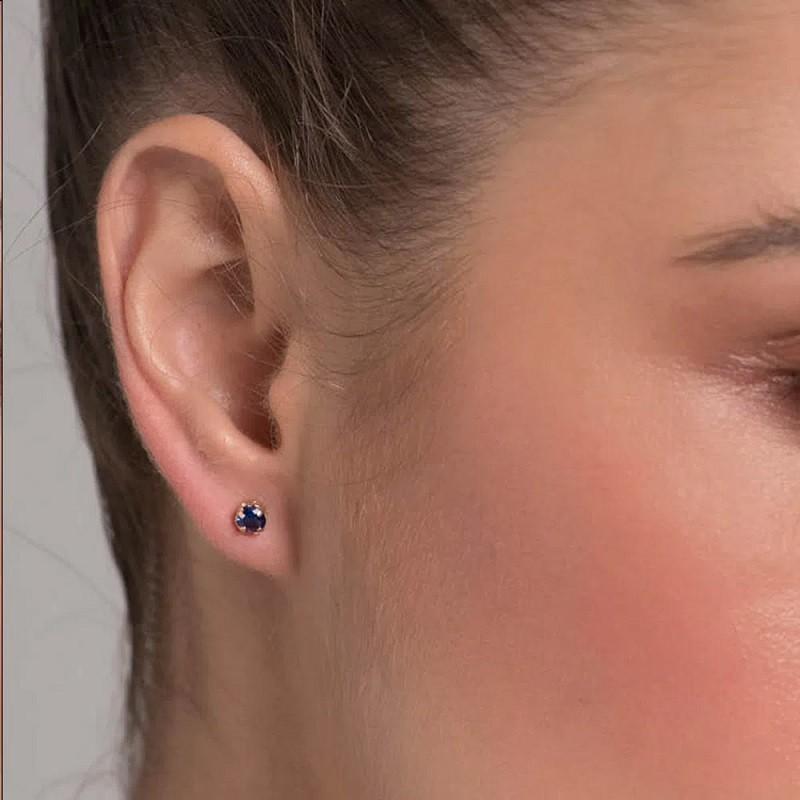 BRINCO FOLHEADO A OURO EAR CUFF COM 11 CRISTAIS E UM SOLITÁRIO - 526347