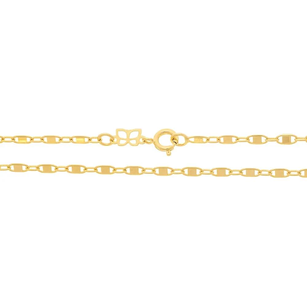 CORRENTE FOLHEADO ROMMANEL UNISSEX NAVETE COM DETALHES - 531278