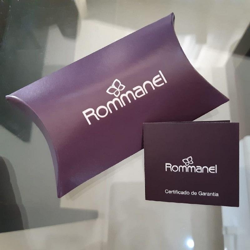 TORNOZELEIRA FOLHEADA ROMMANEL COMPOSTA POR 3 PINGENTES FERRADURA, CORAÇÃO E DENTE - 551703