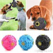 Brinquedo Bola Bolinha Petisco Interativo Cachorro Com Apito