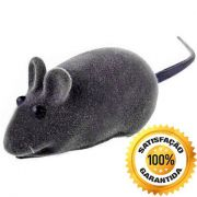 Ratos Ratinho Vinil Veludo Maleável Apito Brinquedo Gatos