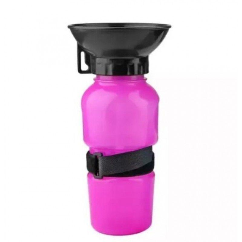 Bebedouro Garrafa Para Cães Portatil Rosa Pet Shop 500 ml