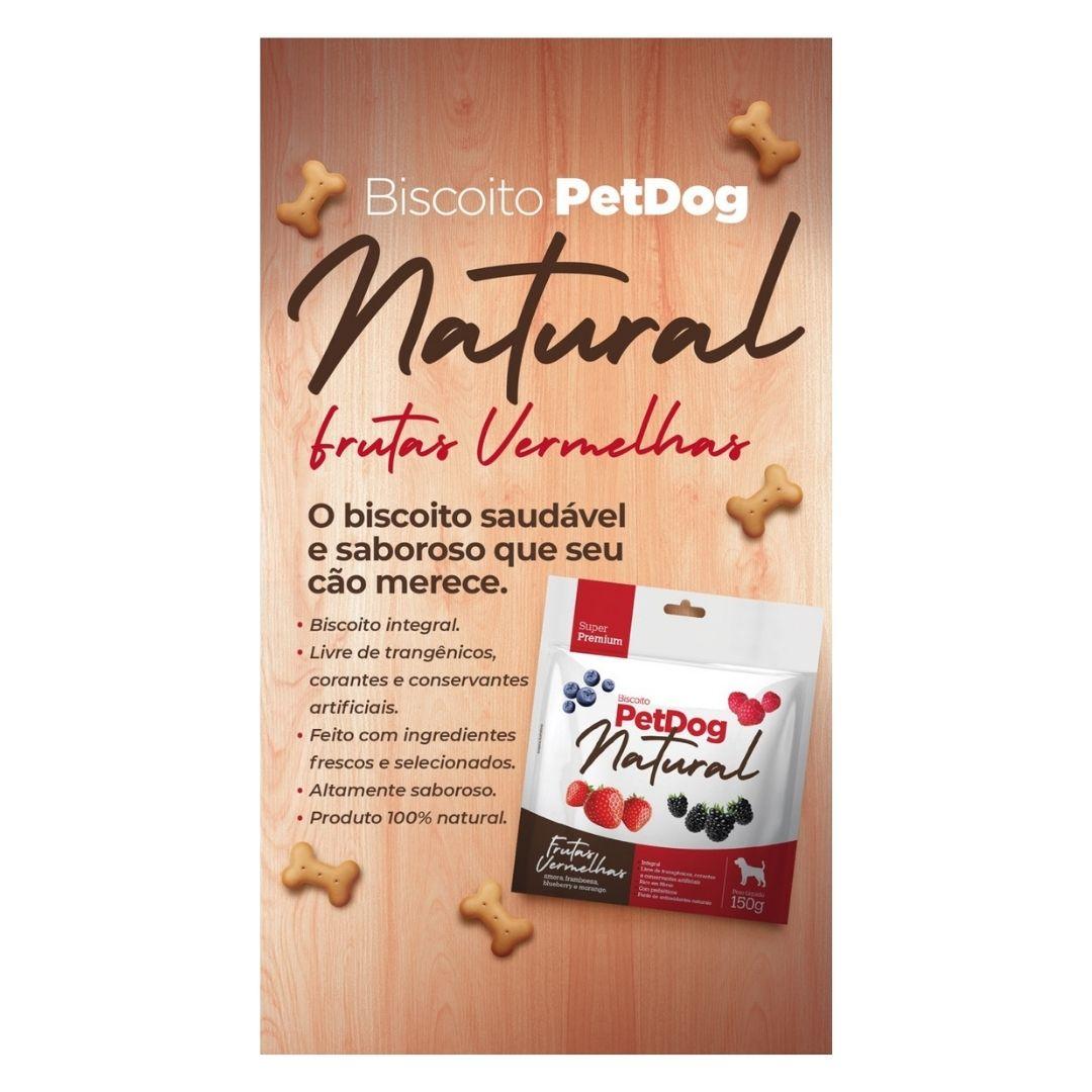 BISCOITO SUPER PREMIUM PETDOG NATURAL -  FRUTAS VERMELHAS