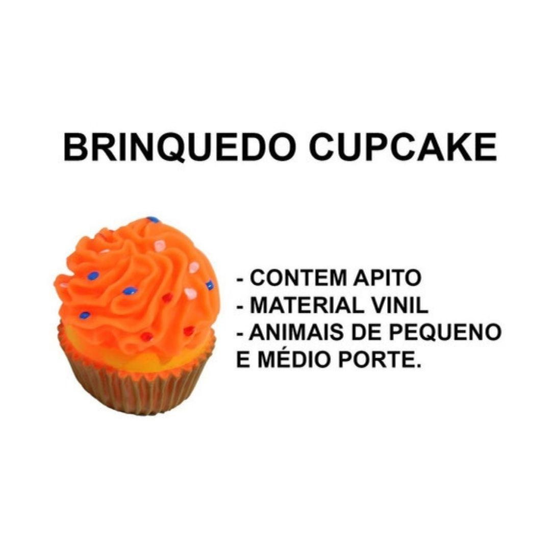 Brinquedo De Vinil Cupcake Para Cachorro