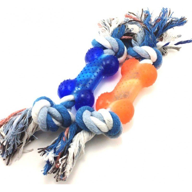 Brinquedo para Cachorro Mordedor modelo Corda com osso.