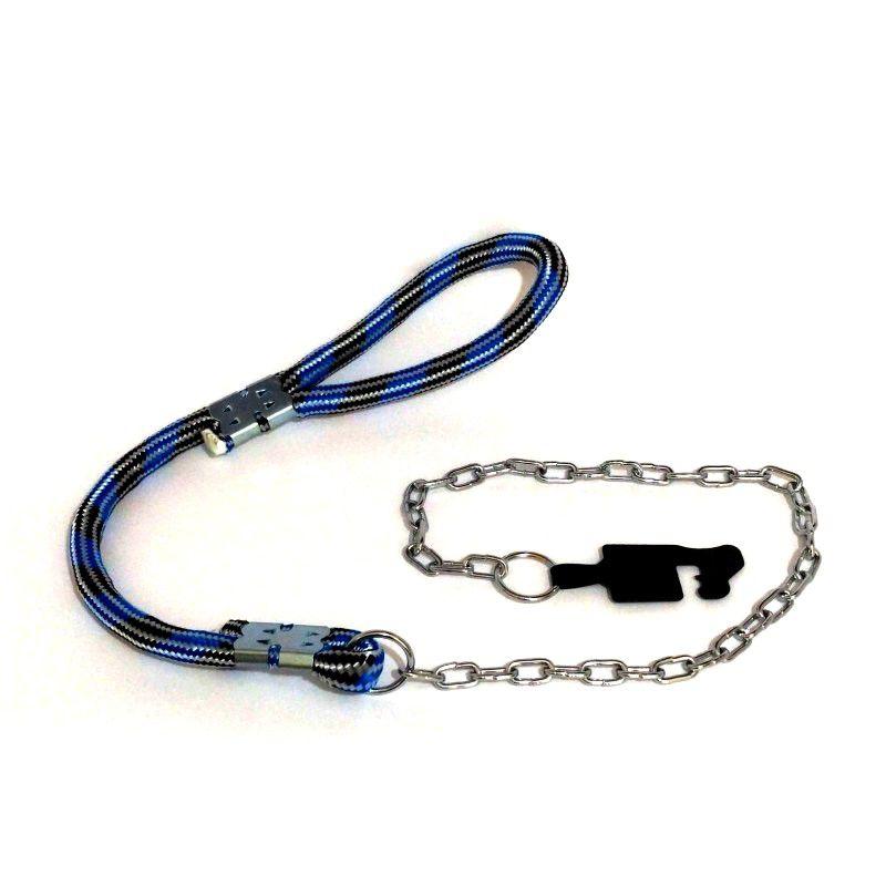 Guia para cachorro com enforcador de corrente