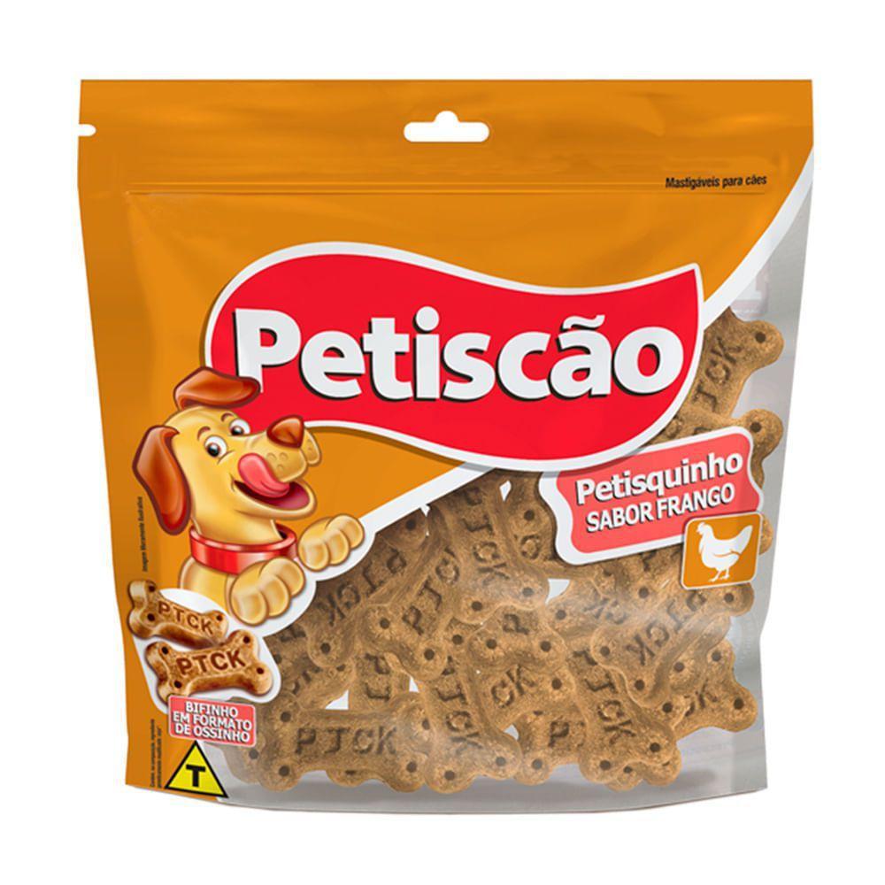 PETISCÃO PETISQUINHO DE FRANGO 60g - CAIXA C/ 24 PCT