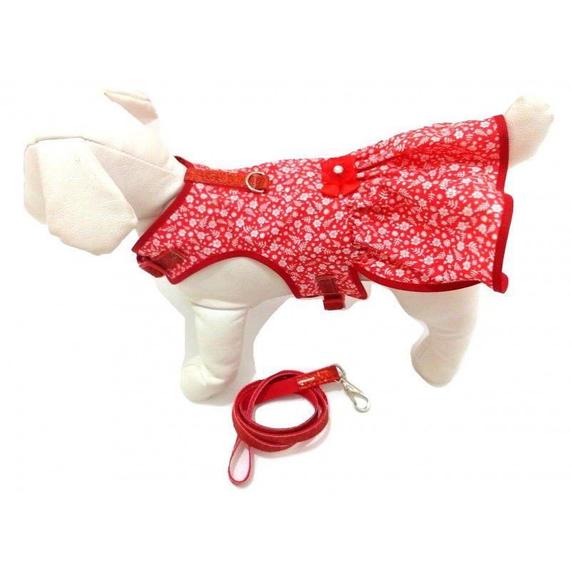 Vestido Peitoral para cachorro com Presilhas