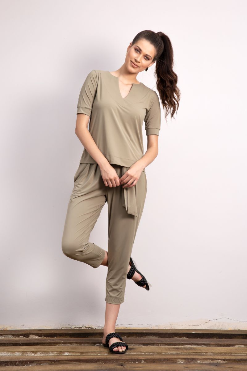 CALÇA CROPPED CLOCHARD