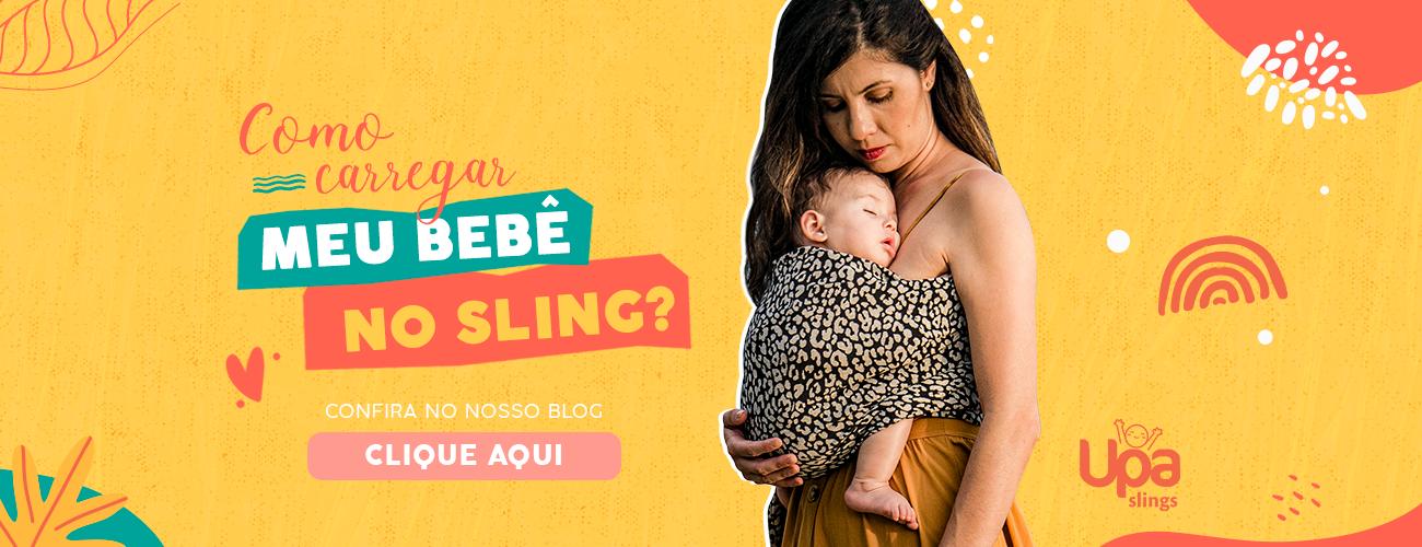 Como carregar meu bebê no sling?