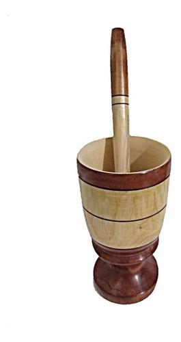 Kit Caipirinha Copo 1 Litro De Madeira De Cedro Premium