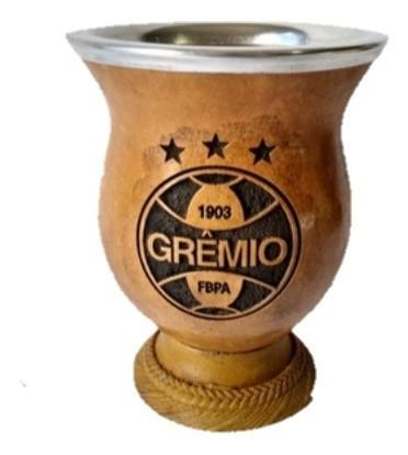 cuia do Grêmio gravada a laser com bocal de alumínio