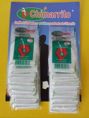 Filtro Para Bomba De Chimarrao 5 Cartelas Com 40 Filtros