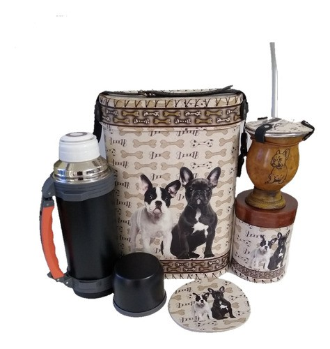 Kit Chimarrão Buldog Francês Cachorro Completo Pet Top