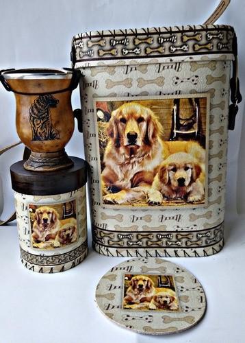 Kit Chimarrão Cachorro Golden Com Cuia E Acessórios Top