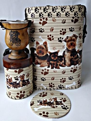 Kit Chimarrão Cachorro York Com Cuia E Acessórios Completo