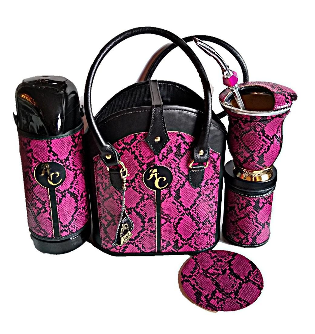 kit chimarrão feminino couro 1lt luxo top de qualidade