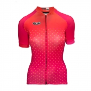 Camisa Mattric Ciclismo Feminina Laranja E Rosa