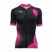 Camisa Mattric Ciclismo Feminina Preto E Rosa