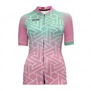 Camisa Mattric Ciclismo Feminina Verde E Rose