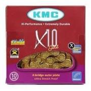 Corrente Kmc X10 Dourado 10 Vel