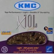 Corrente Kmc X10l Dourado 10 Vel