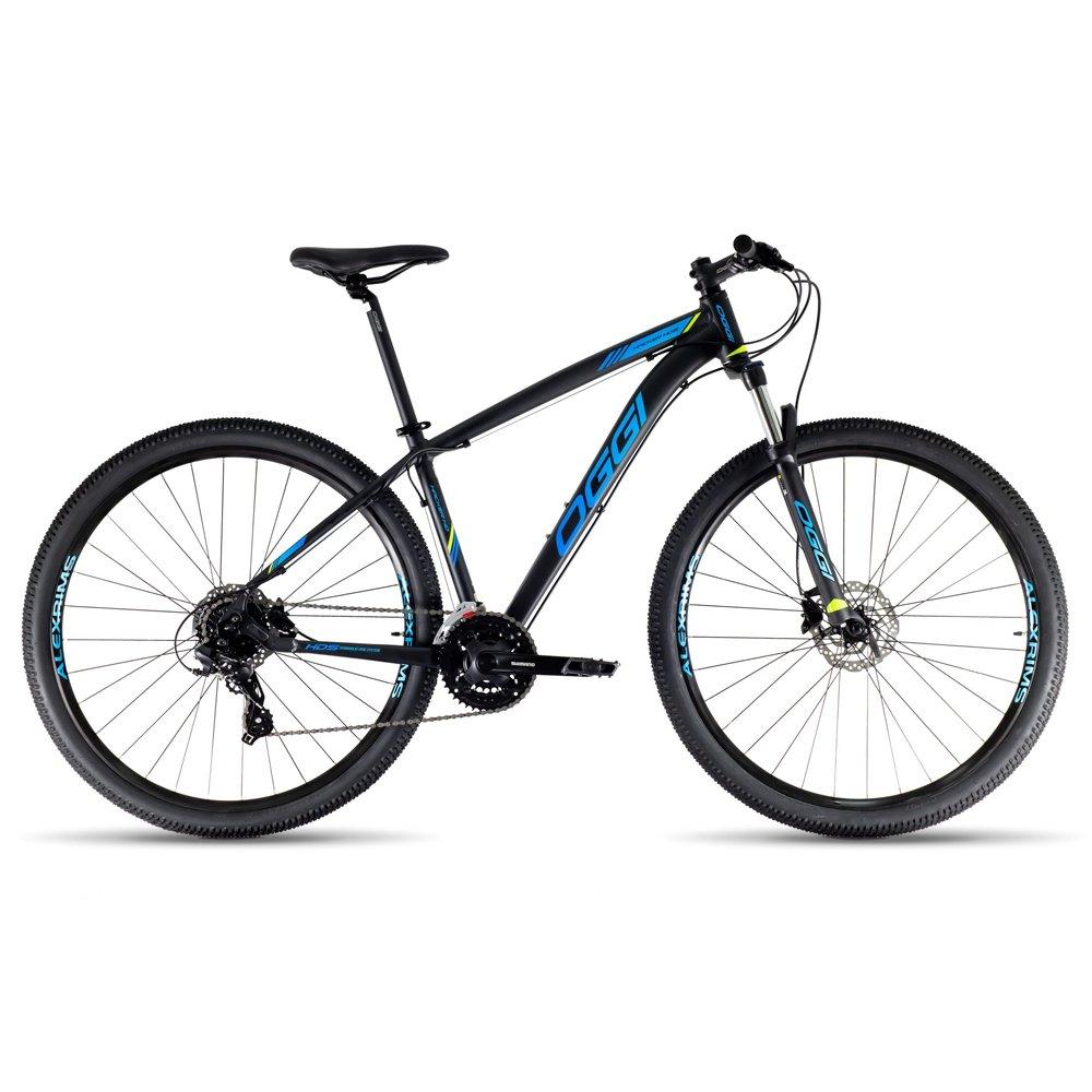 Bicicleta Oggi Hacker HDS 24v 2021 Aro 29 PT/AZ/VD