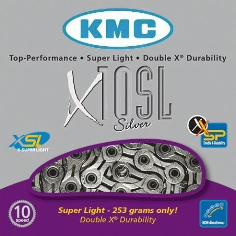 Corrente Kmc  X10sl Cromada 10vel